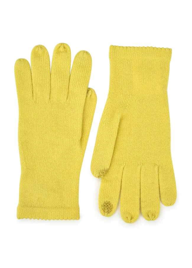 womens citrus wool cashmere blend wrist length glove