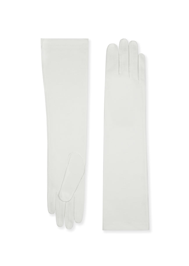 womens polycotton elbow length glove