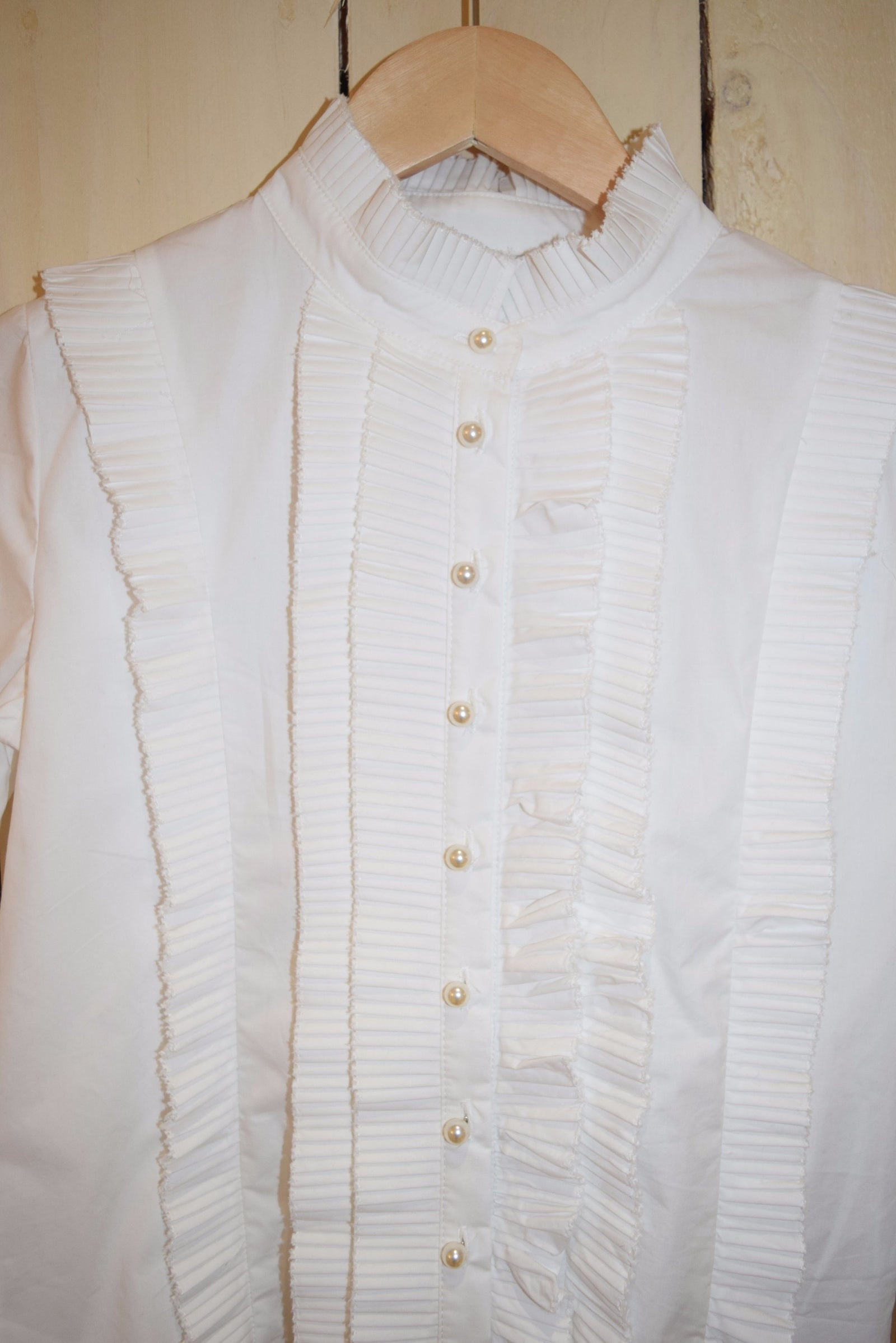 Cheap Frills Pearl Blouse - With Love Omagh