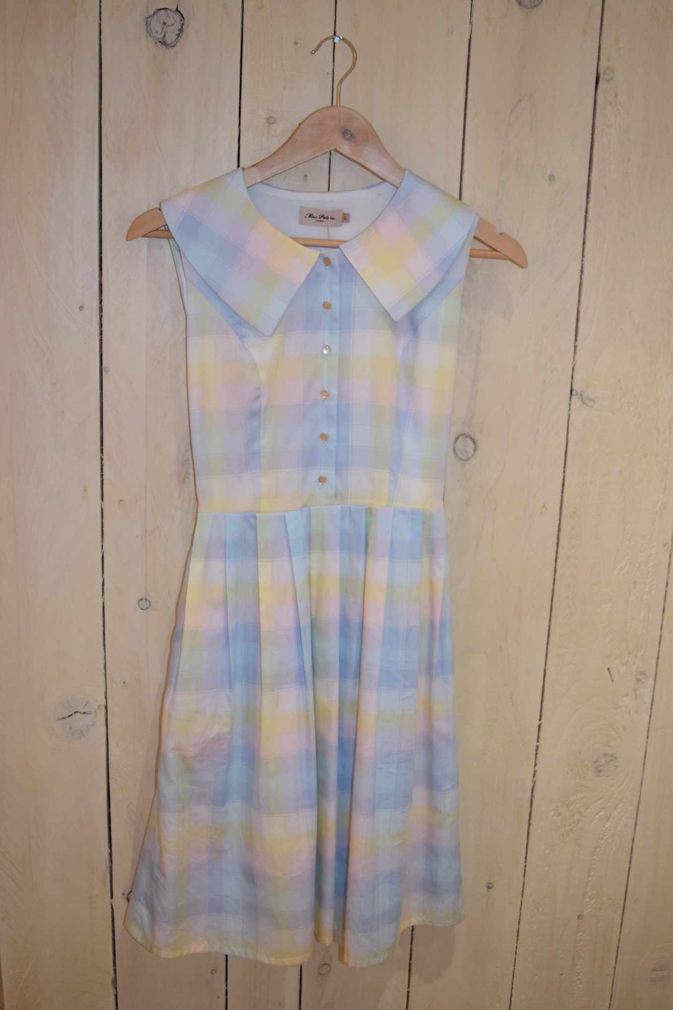 Rainbow Check Pleat Dress - With Love Omagh