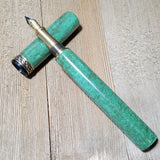 Green Color Shift Closed End Fountain Pen