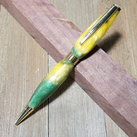 Pearl Green & Yellow Trim Pen
