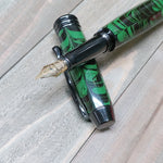 Green Ebonite Manager Fountain Pen