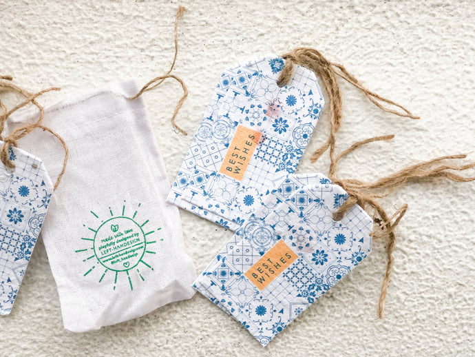BĪJ GIFT TAGS - CHINA INDIGO