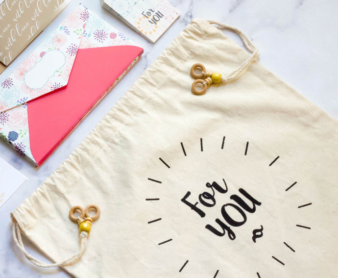 FOR YOU COTTON GIFT BAG - left-handesign