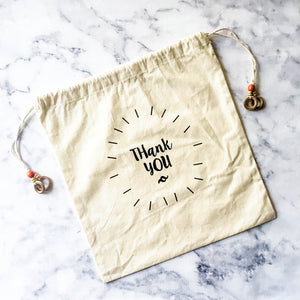 THANK YOU COTTON GIFT BAG - left-handesign