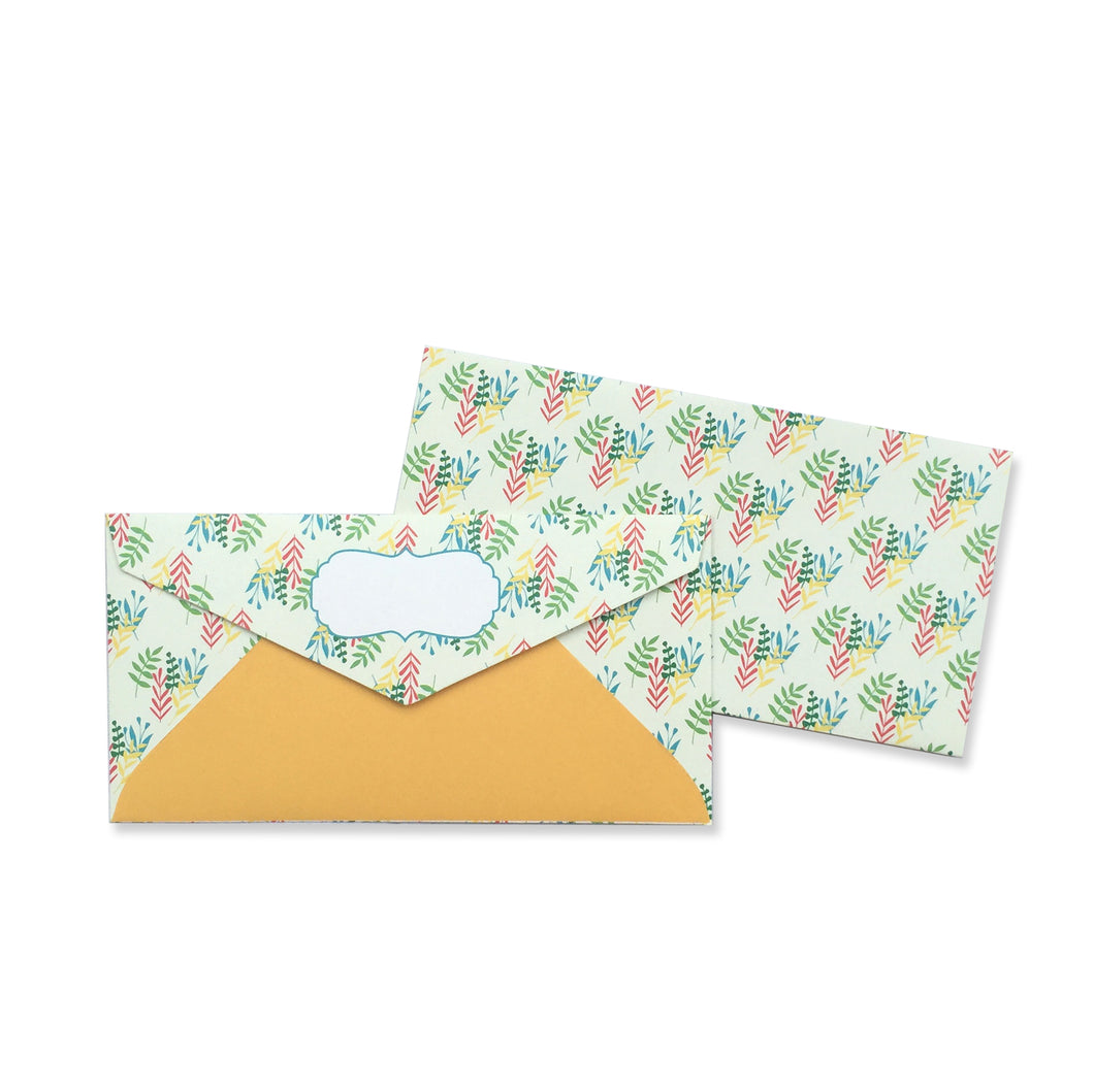 FIELD OF LEAVES ENVELOPE - left-handesign