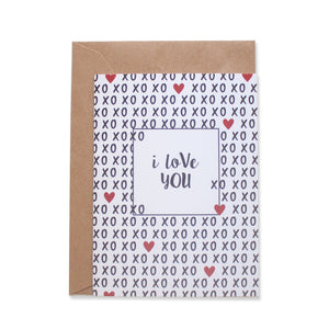 XOXO GREETING CARD - left-handesign