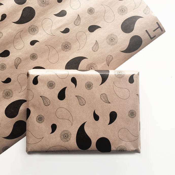 PAISLEY GIFT WRAP - left-handesign