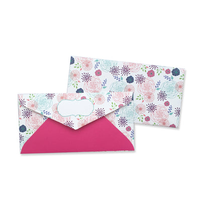 PINK BLOOMS ENVELOPE - left-handesign