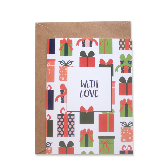 PRESENTS GREETING CARD - left-handesign