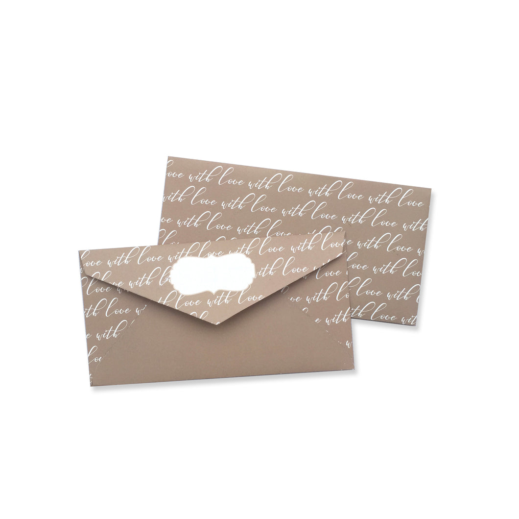 STORIES OF LOVE ENVELOPE - left-handesign