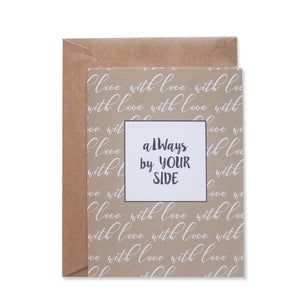 SIDE BY SIDE GREETING CARD - left-handesign