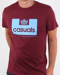 c9fc645d Weekend Offender Inspired 80s Casuals - T-Shirt - Claret and Blue - Aston  Villa FC