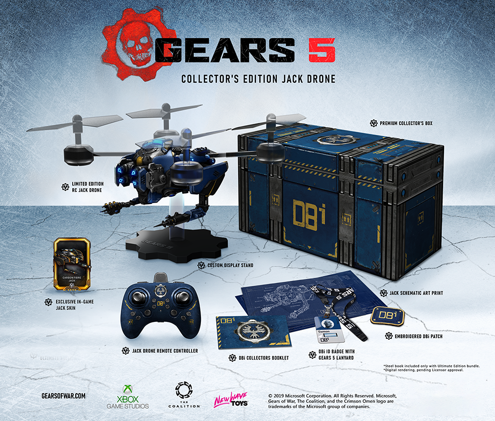 The Gears 5 Collector's Edition, Jack Drone Support Page