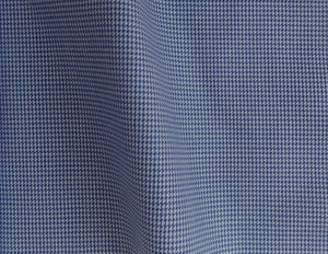 Navy Houndstooth with White Offset