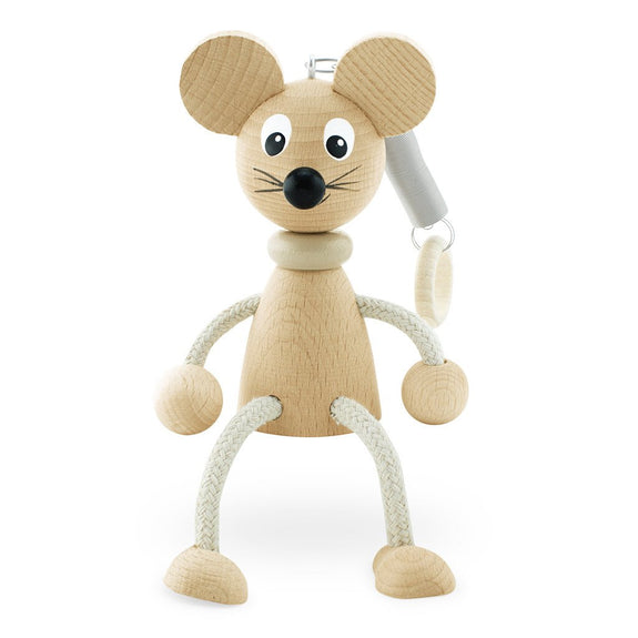 Wooden Mouse on spring - Huey