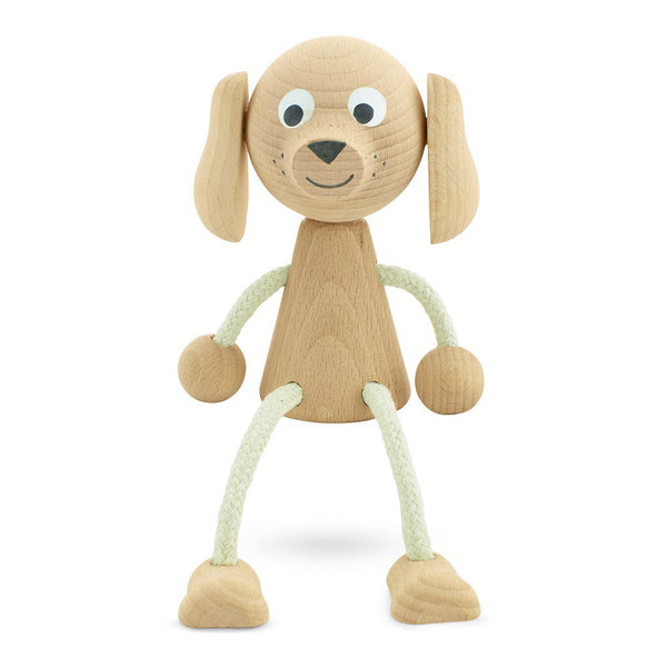 Wooden Sitting Dog - Bailey