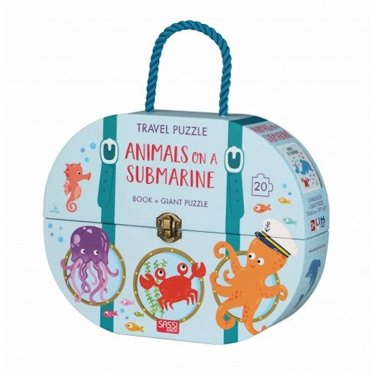 Sassi Giant Puzzle & Book - Animals on a submarine