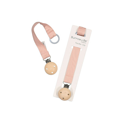 Pacifier Clip - Dusty Rose