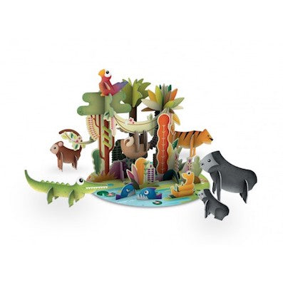 Sassi 3D Assemble Build & Book - The world of the jungle