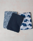 Cotton Muslin Swaddles (3 pack) Indie Elephant
