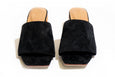 Sicily Slide - Black Suede