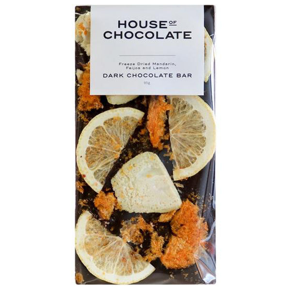 Freeze Dried  Mandarin, Feijoa & Lemon - Chocolate Bar