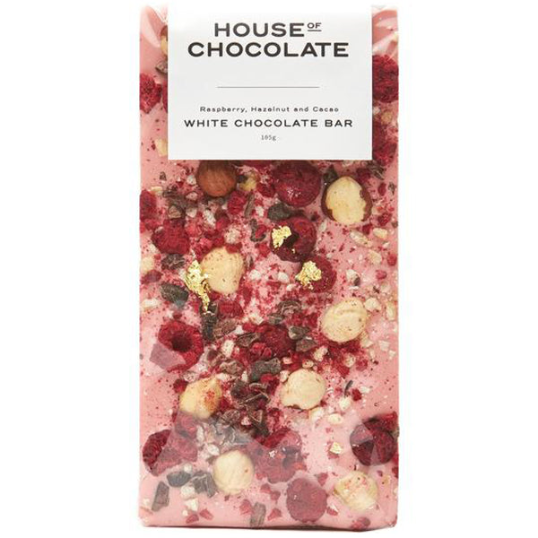 Raspberry , Hazelnut and Cacao - Chocolate Bar