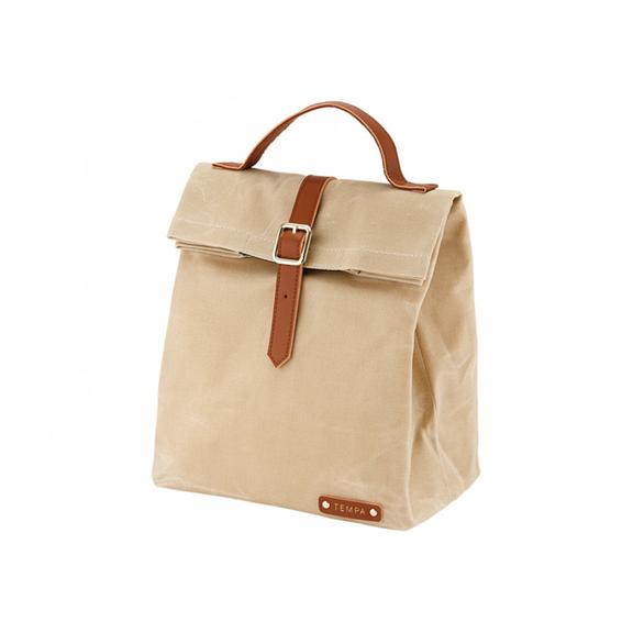 Tempa Buckle Insulated Lunch Bag - Taupe