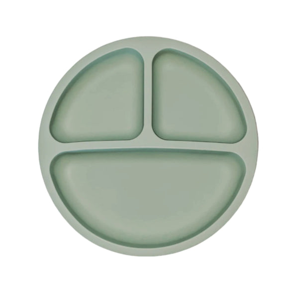 Silicone Suction Plate - Olive