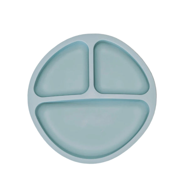 Silicone Suction Plate - Teal