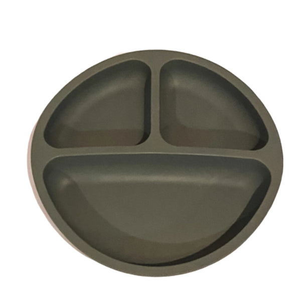 Silicone Suction Plate - Charcoal
