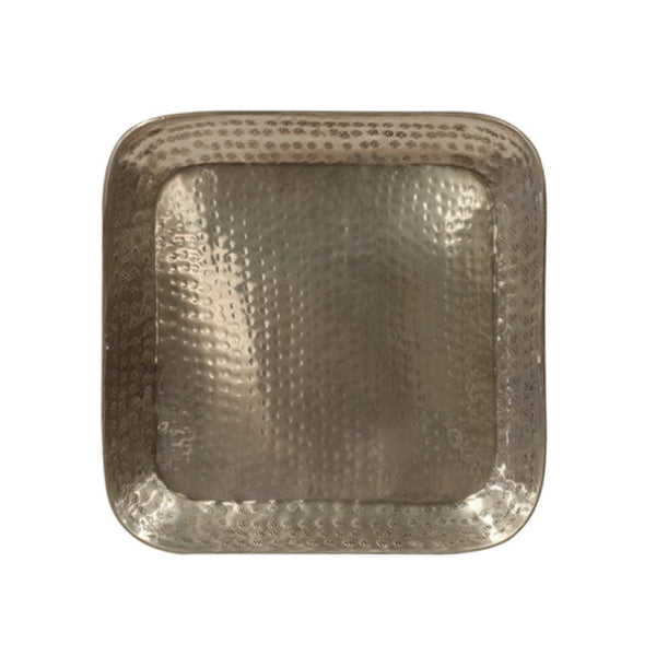 Brass Hammer Beaten Square tray
