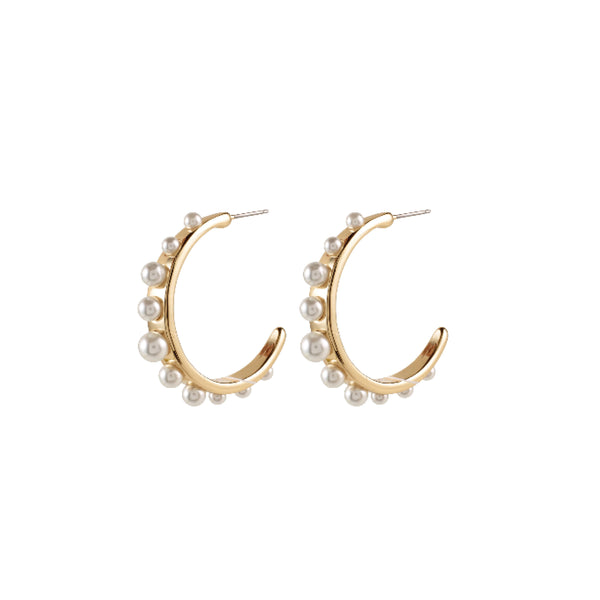 Phoebe Hoops - Gold Plated /pearl