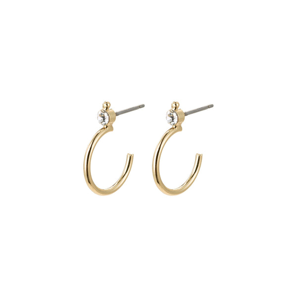 Gabrielle Earrings - Gold Plated / Crystal