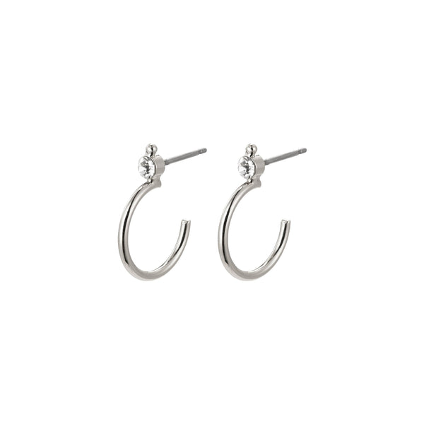 Gabrielle Earrings - Silver Plated / Crystal