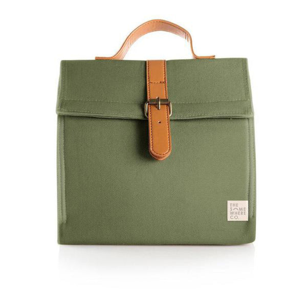 Insulated Lunch Bag - Olive Fields