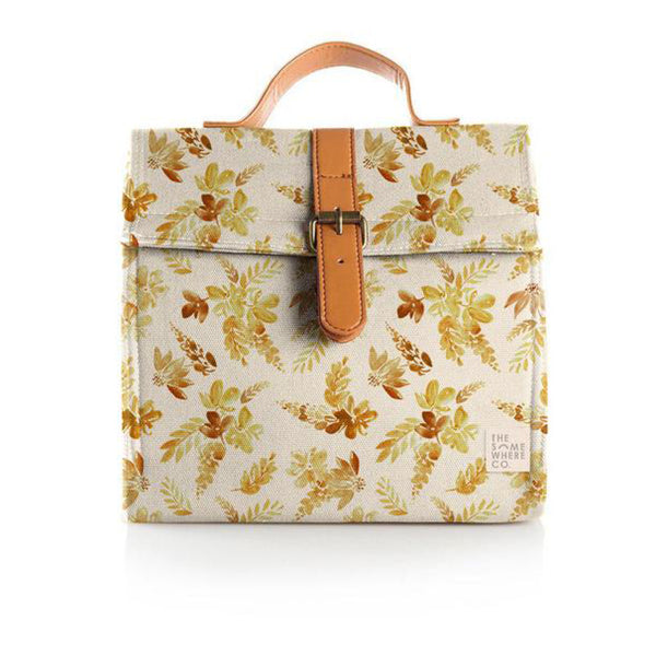 Insulated Lunch Bag - Mustard Floral