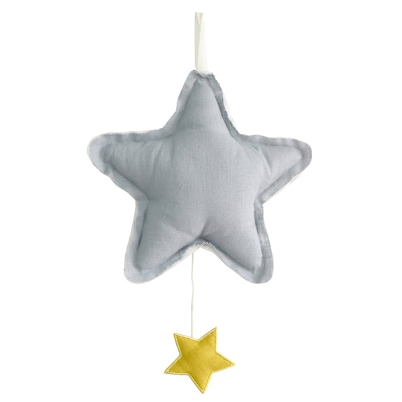 Musical Star - grey Linen