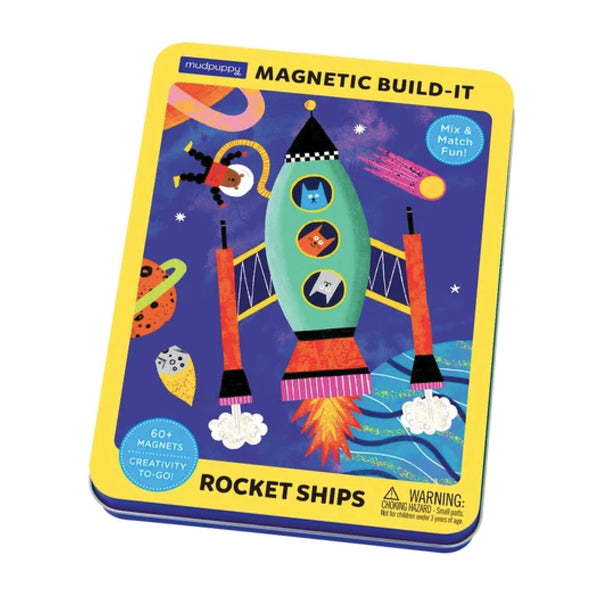 Rocket Ships Magnetic Build-It