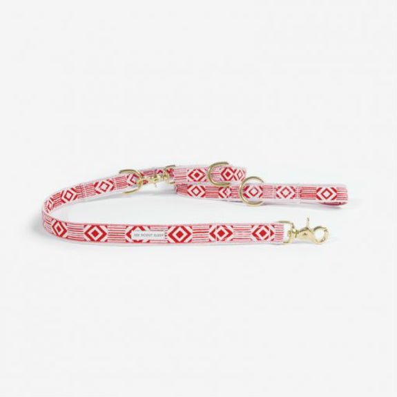 Out of the box Vermillion & Cream leash