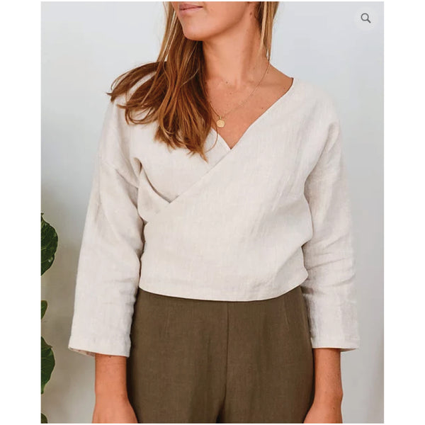 Lily Wrap Top - Oatmeal