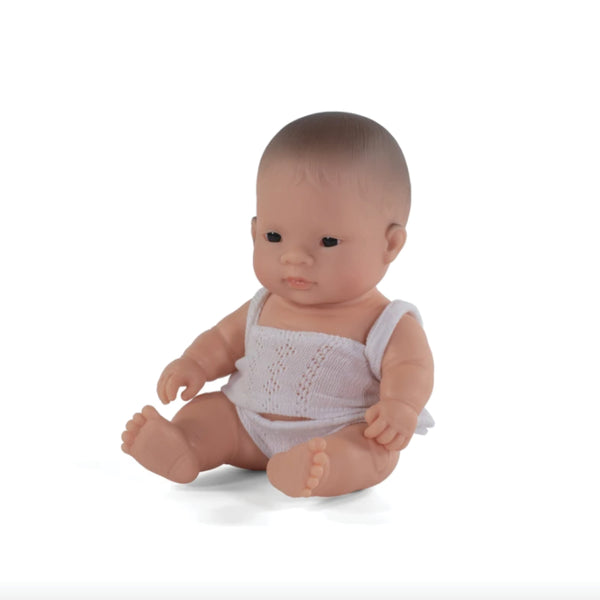 Miniland Anatomically correct baby doll 21cm - Asian / Girl