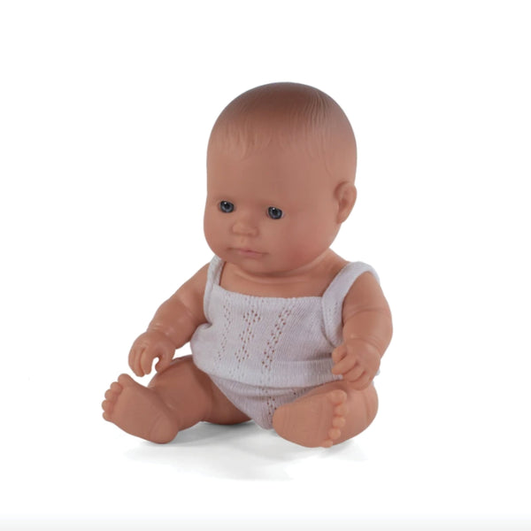 Miniland Anatomically correct baby doll 21cm - Caucasian / Girl