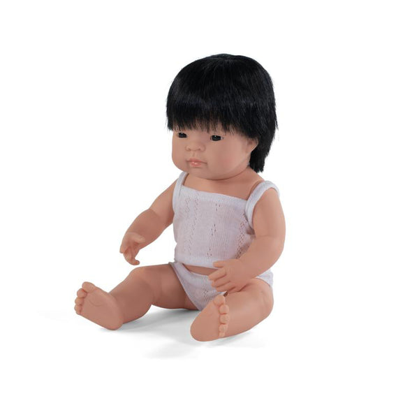 Miniland Anatomically correct baby doll 38cm - Asian /Boy
