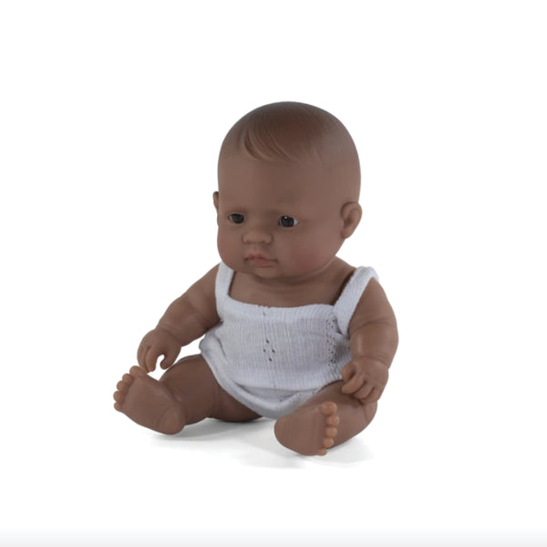 Miniland Anatomically correct baby doll 21cm -Hispanic Latin/ Girl