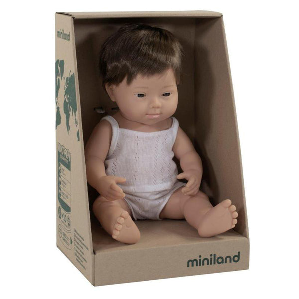 Miniland Anatomically correct Doll 38cm - Caucasian Down Syndrome / Boy