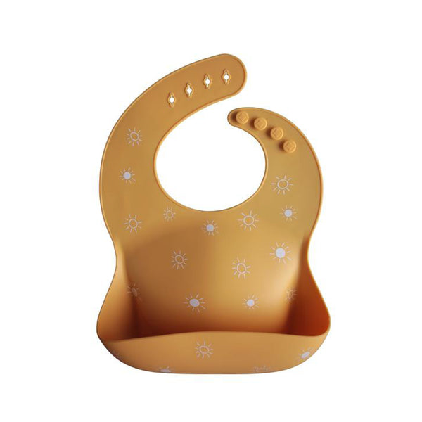 Mushie Silicone Bib - Sun Orange