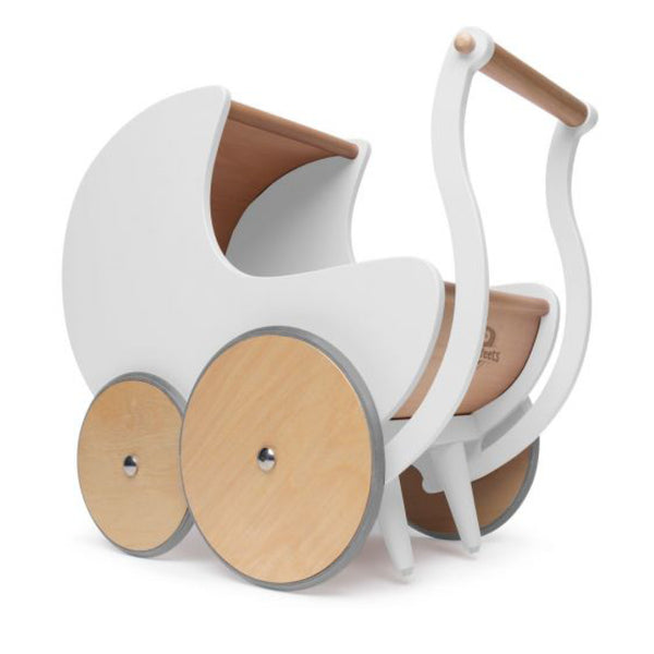 Dolls Pram + First Walker - White